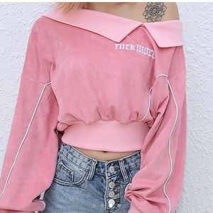 Pink cropped sweater
